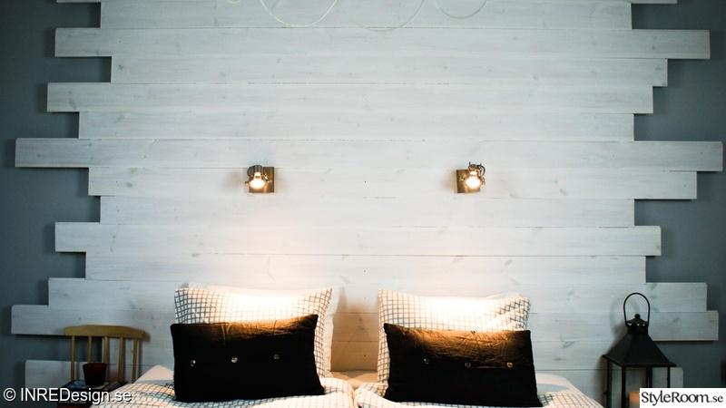 sänggavel vit ~ bild på inredning  sov gott med en fin sänggavel bakom