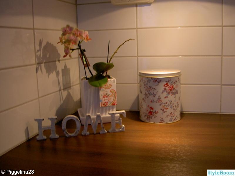burk,bokstäver,kök,orchidé