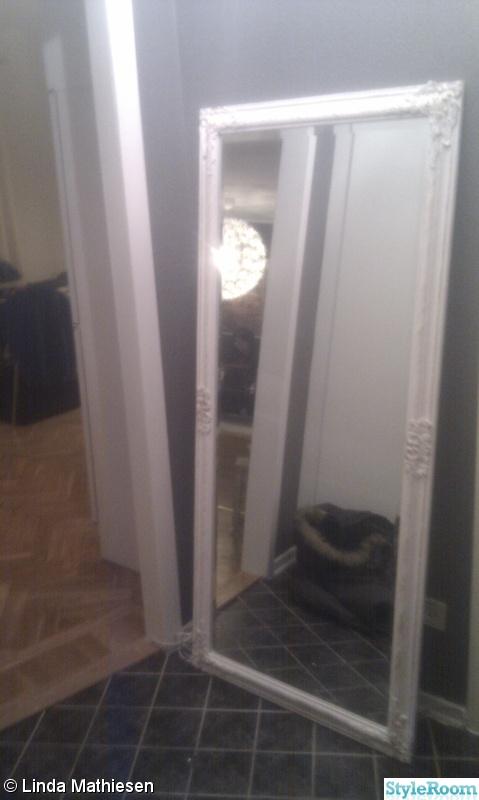 spegel,hall,shabby chic,vit spegel,lantlig spegel