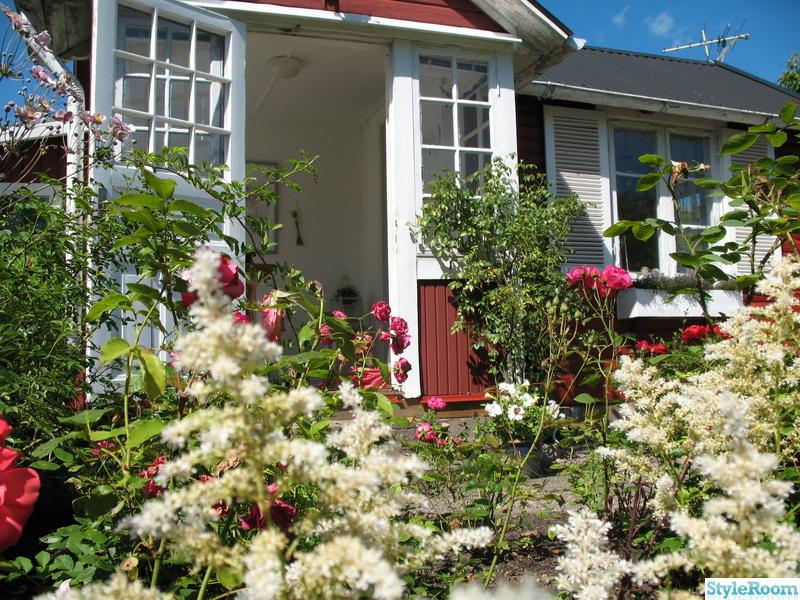 blommor,trädgård,stuga,veranda