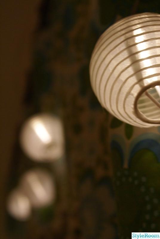 grön,ljusslinga,solcellslampa
