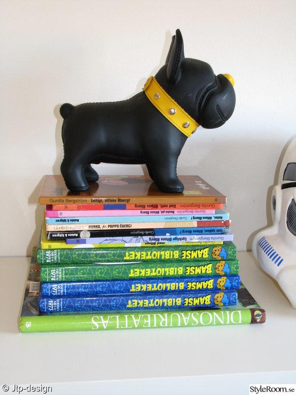 böcker,hund,sparbössa