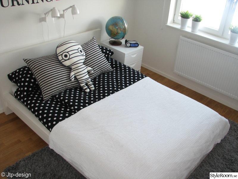fönster,växter,prickigt,sovrum,säng