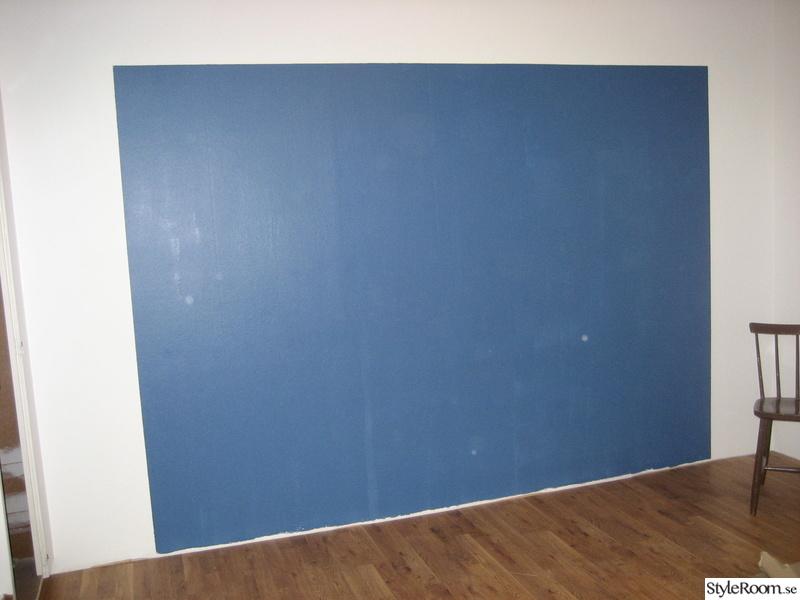 sovrum,väggfärg,blå vägg