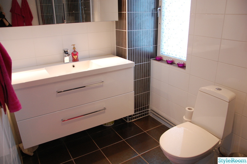Vitt Kok Brunt Kakel : rosa,mosaik,vitt kakel,badrumsmobel,toalett