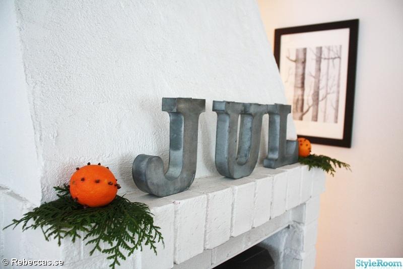 jul,kamin,julskrud,madam stoltz,apelsiner