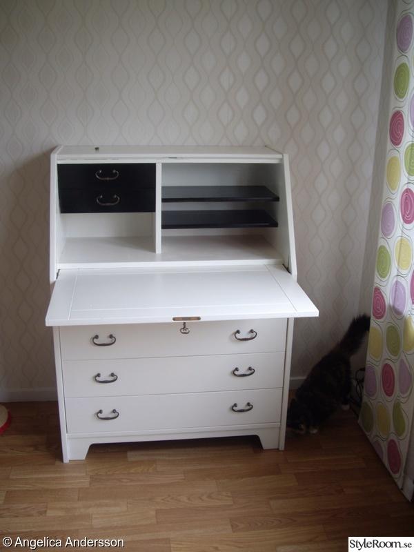 svart sekretar m bel f r k k sovrum. Black Bedroom Furniture Sets. Home Design Ideas