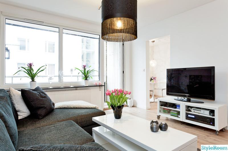 vardagsrum,soffa,tvbänk,tulpan,soffbord