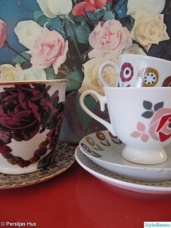 kaffekoppar,koppar,porslin,blommor,rosor