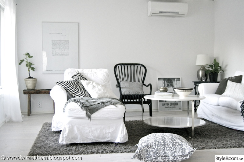 vardagsrum,ikea,sorselestol,svart,vitt