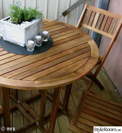 Bord til balkong