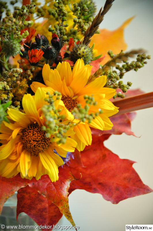 höstlov,blommor,gult,höst,bukett