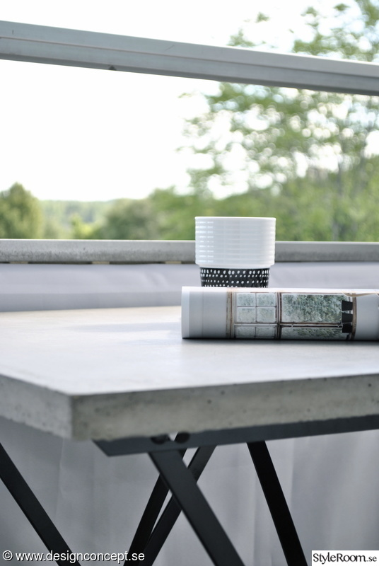 betongbord,betongbordsskiva,balkongbord,gjuta i betong,gjuta betongskivor