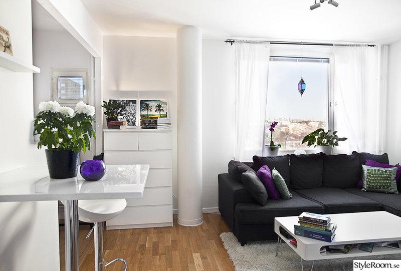 Liten lägenhet med öppen planlösning