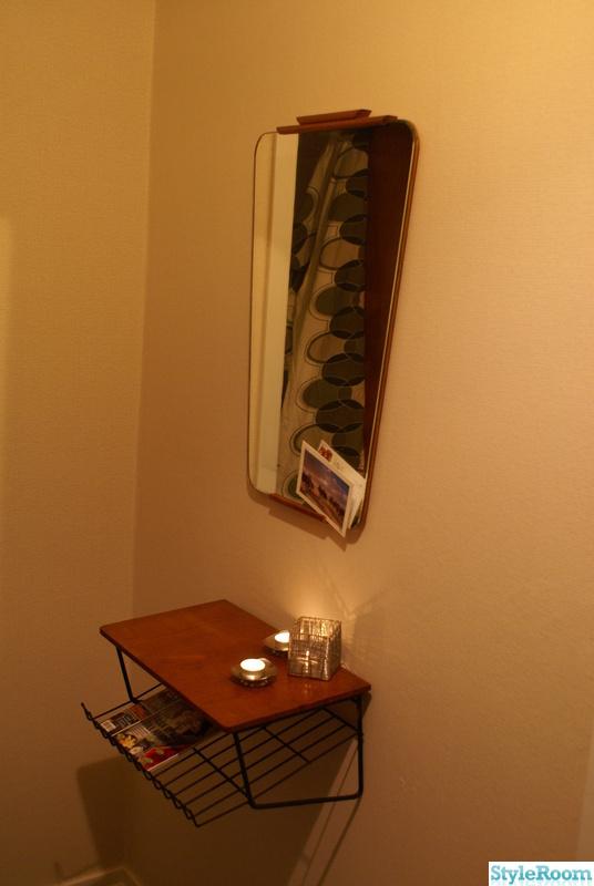 ljuslykta,50-tal,spegel,teak,telefonbord