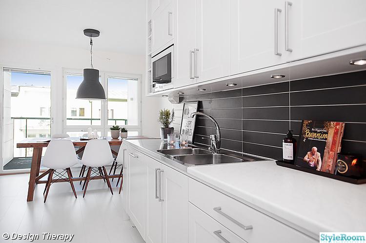 Kök med rustikt matbord Aspen från Inside Möbler