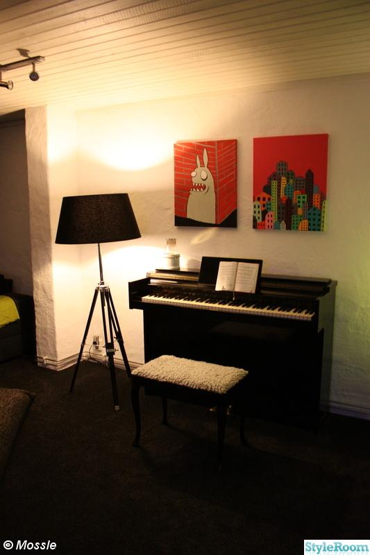 piano,tavla,pianopall,putsa väggar,general lampa