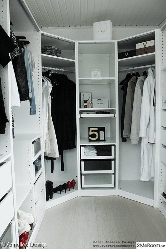 Walk in closet Hemma hos Svartvittochrott