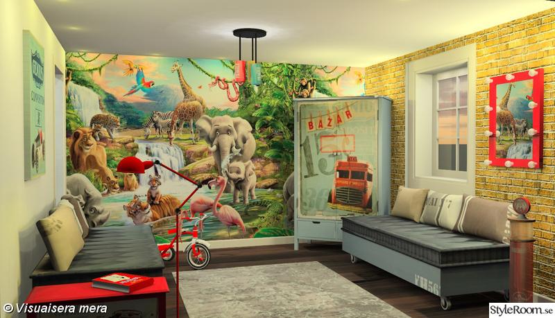 Mitt barnrum, vardagsrum och k?k i 3d  Hemma hos cdn0927