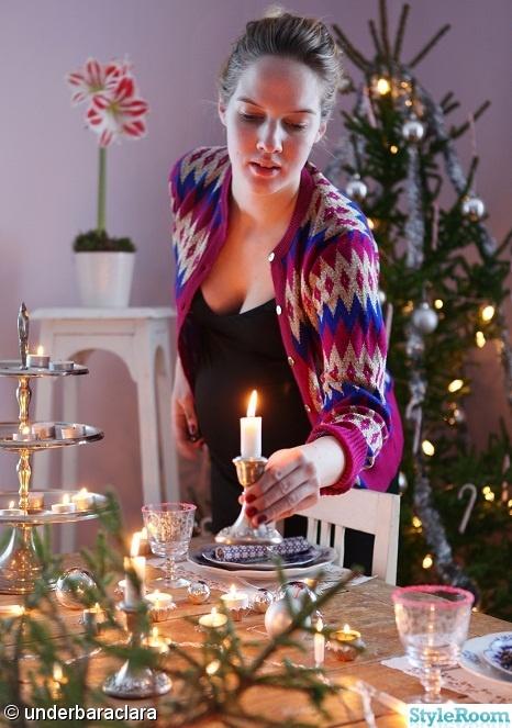 julstrumpa,dukning,slagbord,tårtpapper,juldukning
