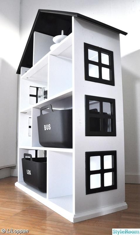 bokhylla,svart/vitt,gör det själv,diy,diy barnrum