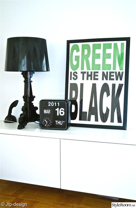 klocka,kartell,grönt,tavla,lampa