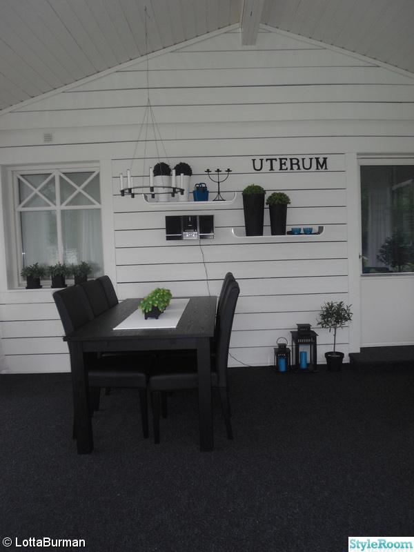 uterum,altan,svart bord,inglasning,svart/vitt