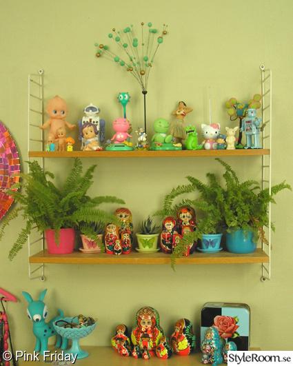 kitsch,leksaker,stringhylla,hylla