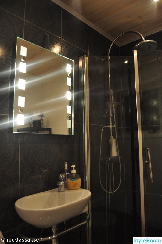 dusch,förvaring,litet badrum,spegel med inbyggd belysning,vattenfallsdusch
