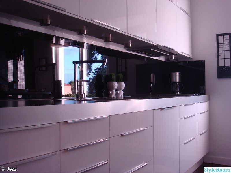 Svart Kok Ikea : kok stonkskydd rostfritt  Koksskop Glas Glaspanel se glas