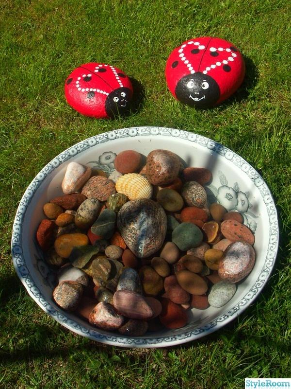 trädgård,natur,sten,stenar,nyckelpiga