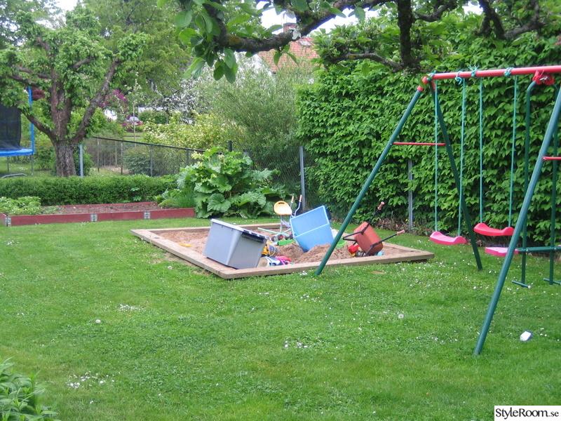trädgårdsland,sandlåda,gungställning