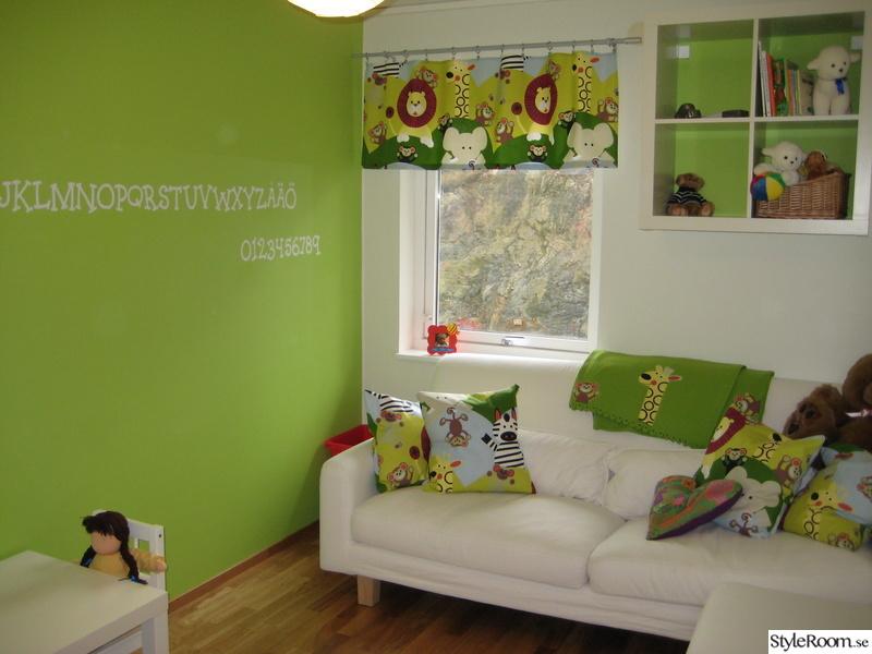 barnrum,färg,grönt