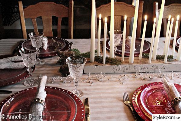 dukning,juldukning,ljusstakar,bordsdukning,diy ljusstake