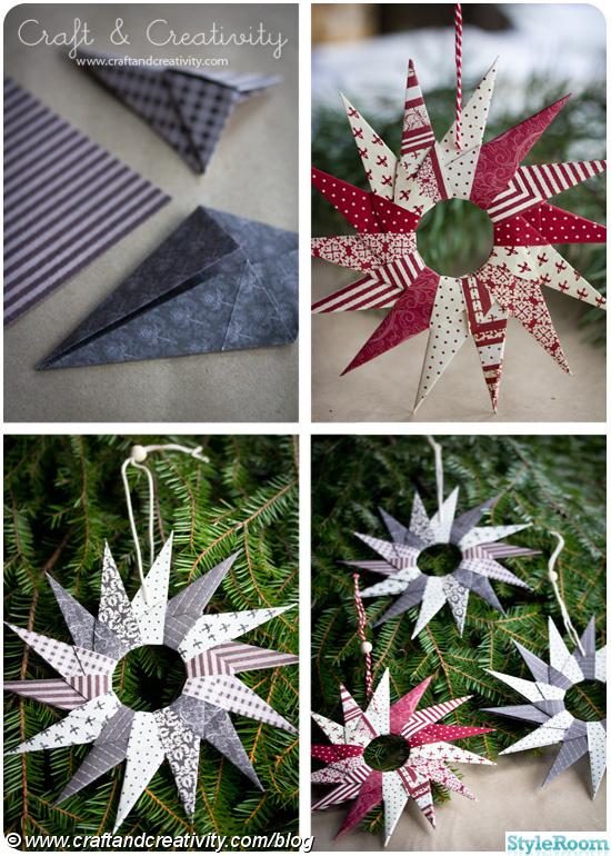 origami,papper,julpyssel,julstjärna,stjärna