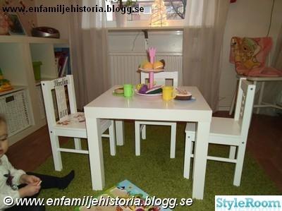 trädgårdsmöbler barnstol och barnbord