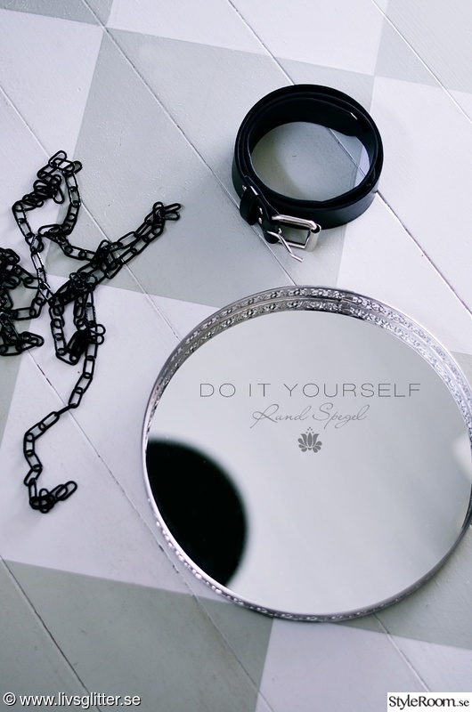 spegel,diy,rund spegel,diy lampa,pyssel