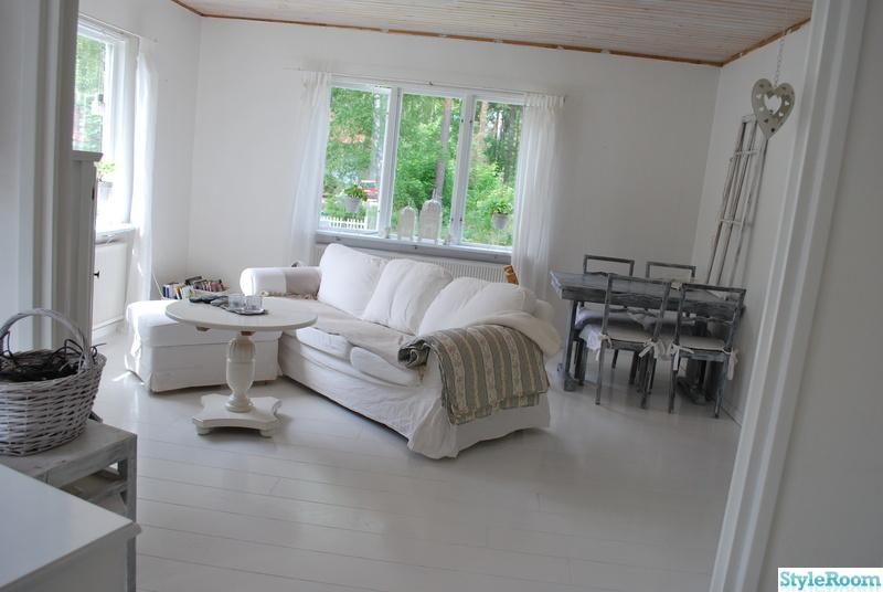 vitt vardagsrum