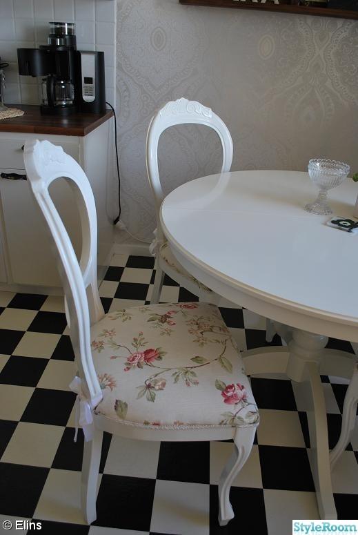 stol,romantiskt,vitt,rosor,gammeldags