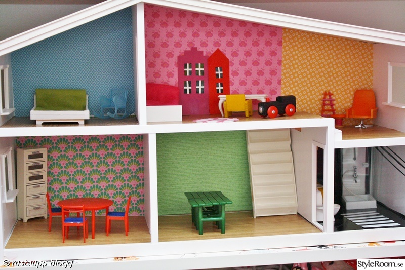 barnrum,matta,måla,pyssel,dockskåp