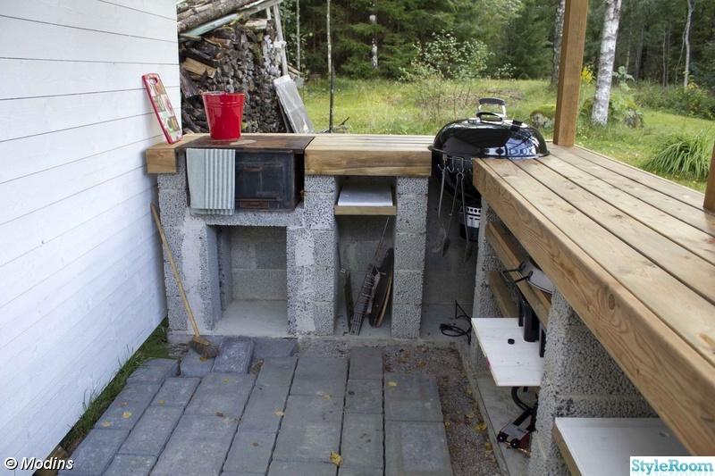 köksbänk,grill,järnspis,betongplattor