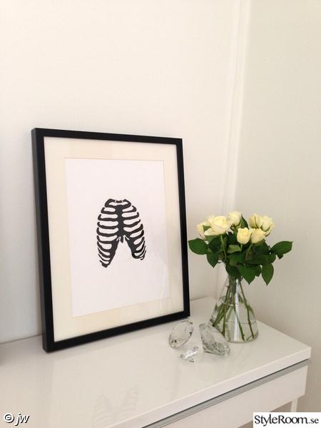 talva,konst,akrylmålning,skelett,sovrum