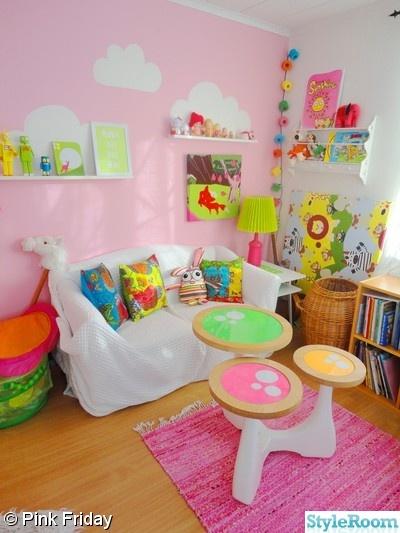barnrum,färgglatt,rosa