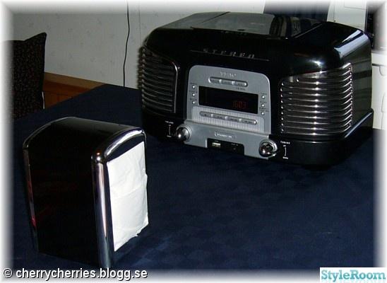 retro radio,servetthållare,diner,rockabilly