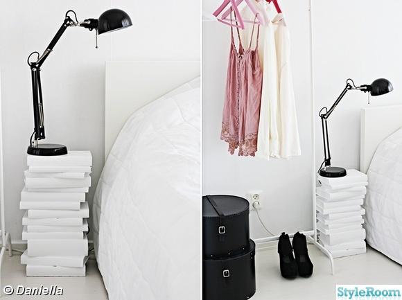 sängbord,sovrum,svart och vitt,lampa,klädställning
