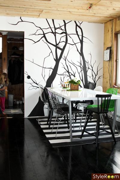 kök,svart golv,trägolv,köksskåp,högblank