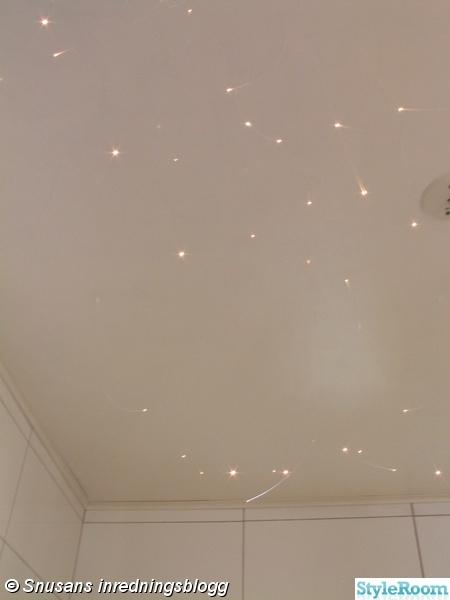 badrum,tak,stjärnhimmel,fiberoptik