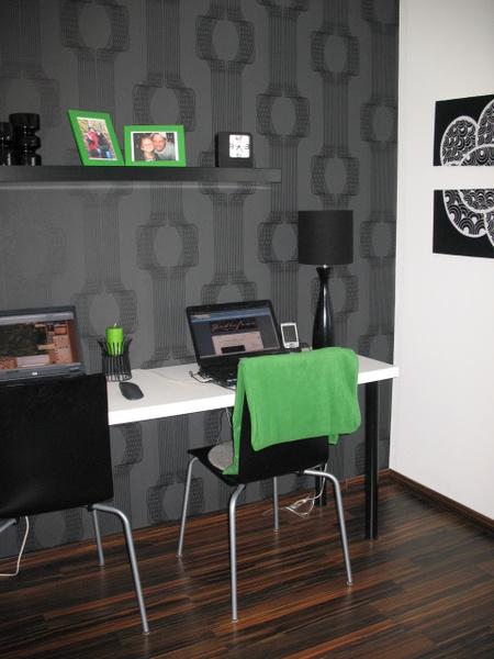 svart,grå,tapet,kontor,datarum