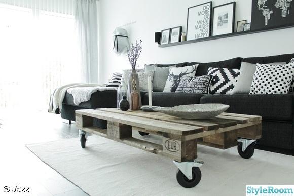 lastpall,vardagsrum,soffbord,kuddar,plädar