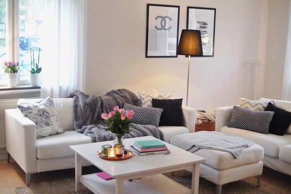 soffa,golvlampa